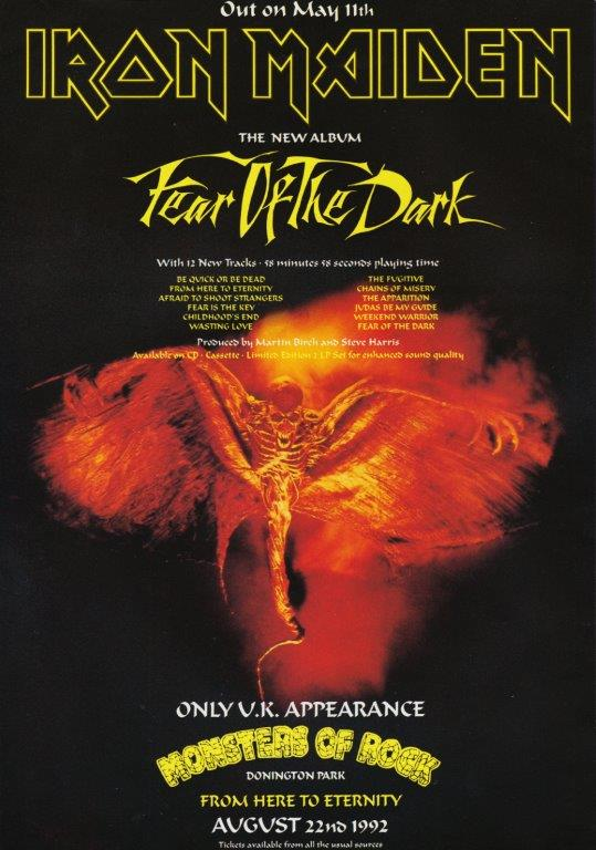 Iron Maiden Fear Of The Dark Poster Prints4u