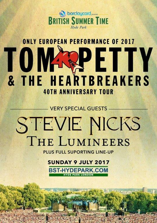 TOM PETTY AND THE HEARTBREAKERS IN CONCERT LONDON 24X36 POSTER
