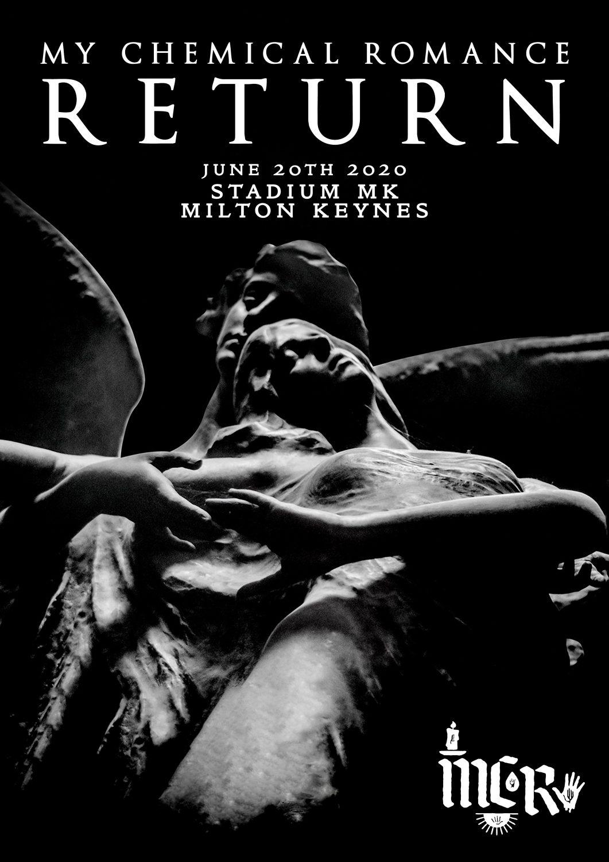 MY CHEMICAL ROMANCE The Return 2020 Tour: STADIUM MK Milton Keynes - 20th  June 2020 Poster | prints4u