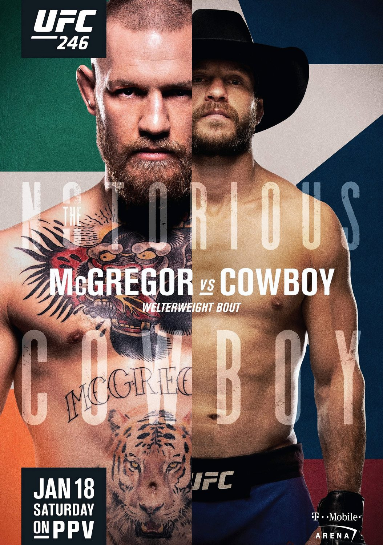 Donald Cerrone PHOTO Print POSTER Las Vegas MMA 2020 UFC 246 Conor McGregor vs